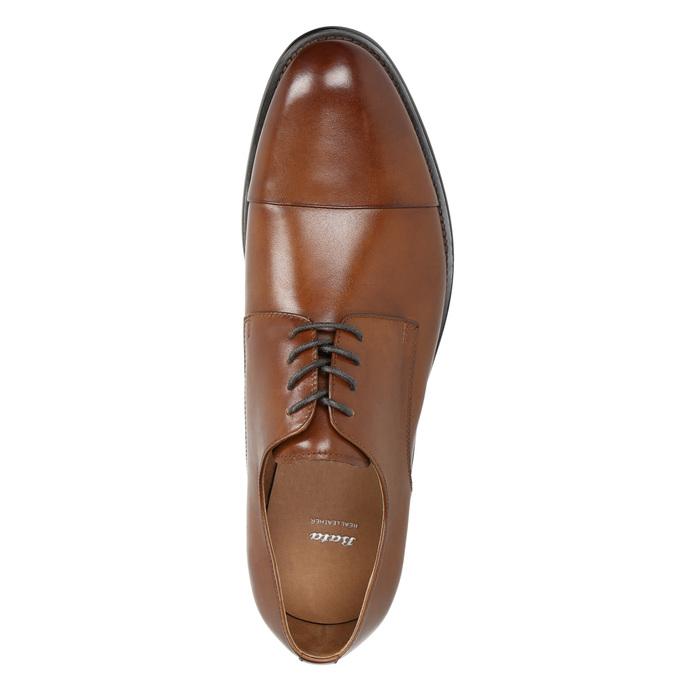 Brązowe skórzane półbuty typu angielki bata, brązowy, 826-3682 - 26