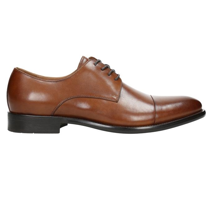 Brązowe skórzane półbuty typu angielki bata, brązowy, 826-3682 - 15