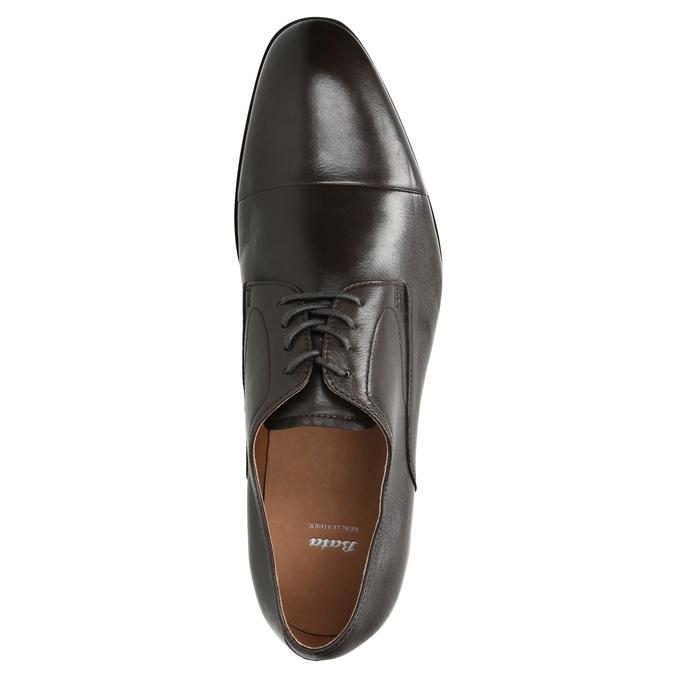 Brązowe skórzane półbuty typu angielki bata, brązowy, 824-4406 - 26