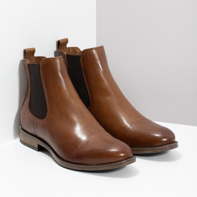 Brązowe skórzane obuwie damskie typu chelsea bata, brązowy, 594-4636 - 26