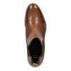 Brązowe skórzane obuwie damskie typu chelsea bata, brązowy, 594-4636 - 17