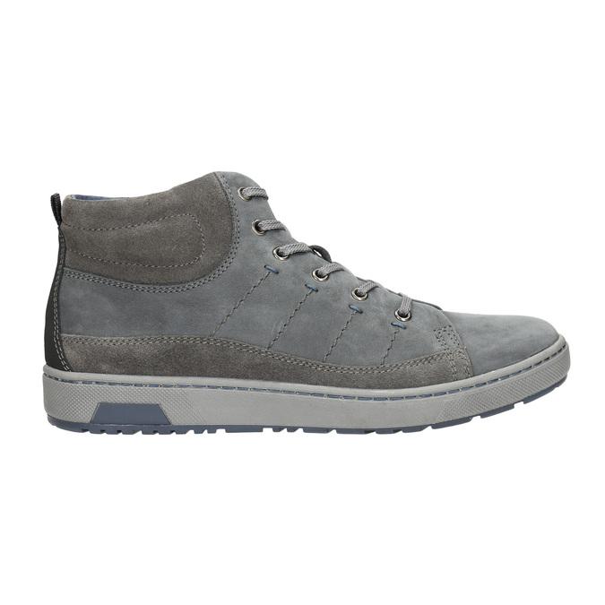 Trampki męskie za kostkę bata, szary, 846-2651 - 15