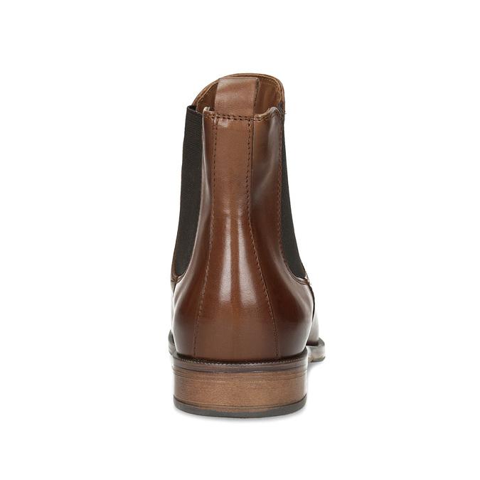 Brązowe skórzane obuwie damskie typu chelsea bata, brązowy, 594-4636 - 15