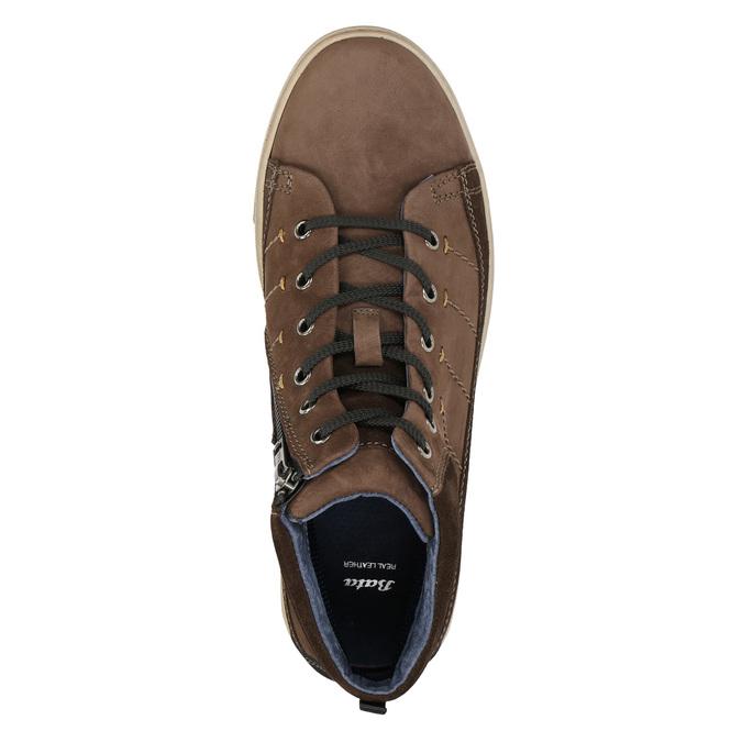 Trampki męskie za kostkę bata, brązowy, 846-4651 - 26