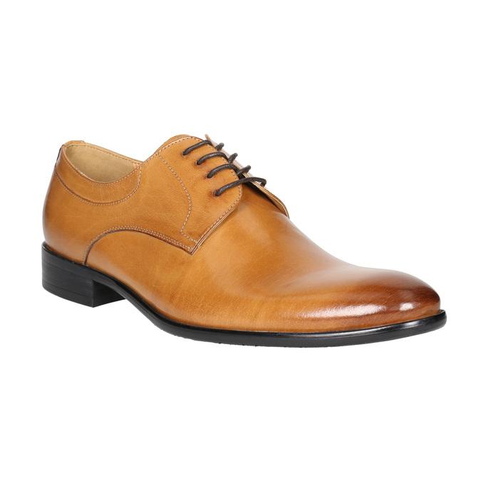 Skórzane półbuty męskie zefektem ombré bata, brązowy, 824-3233 - 13