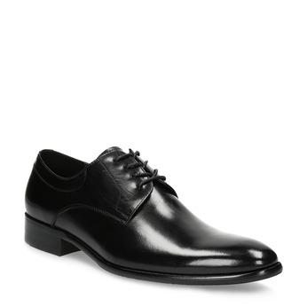 Skórzane półbuty męskie typu angielki bata, czarny, 824-6233 - 13
