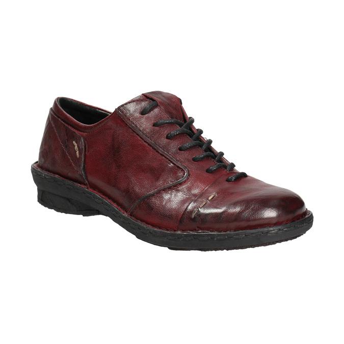 Skórzane półbuty damskie bata, czerwony, 526-5640 - 13
