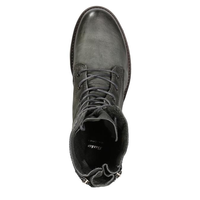 Skórzane buty damskie bata, szary, 596-2616 - 15