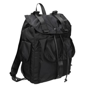 Czarny plecak zkieszeniami bata, czarny, 969-6163 - 13