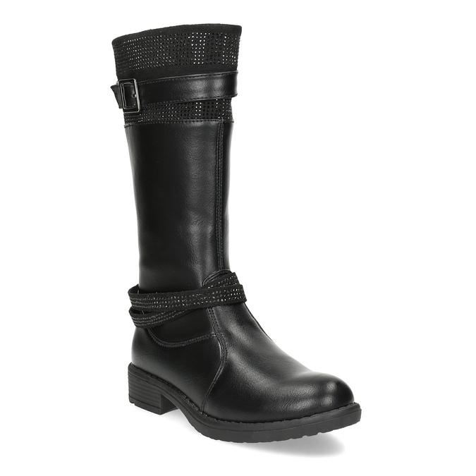 Czarne kozaki dziewczęce mini-b, czarny, 391-6655 - 13