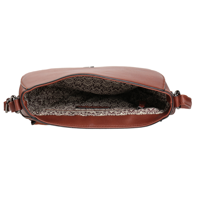 Przeszywana torebka damska gabor-bags, brązowy, 961-3055 - 15