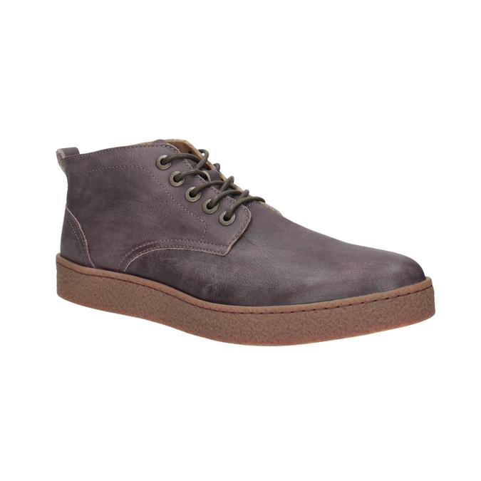 Skórzane buty męskie za kostkę bata, brązowy, 846-4652 - 13