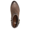 Botki damskie zklamrami bata, brązowy, 796-4644 - 19