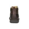 Skórzane obuwie męskie za kostkę, zprzeszyciami bata, brązowy, 846-4645 - 15