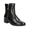 Skórzane botki ze złotymi zamkami błyskawicznymi bata, czarny, 594-6654 - 13