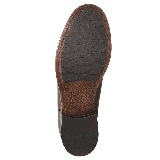 Brązowe skórzane obuwie typu chelsea bata, brązowy, 896-3673 - 19