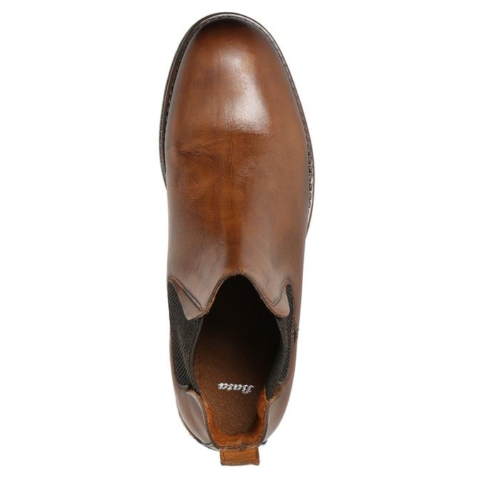 Brązowe skórzane obuwie typu chelsea bata, brązowy, 896-3673 - 26