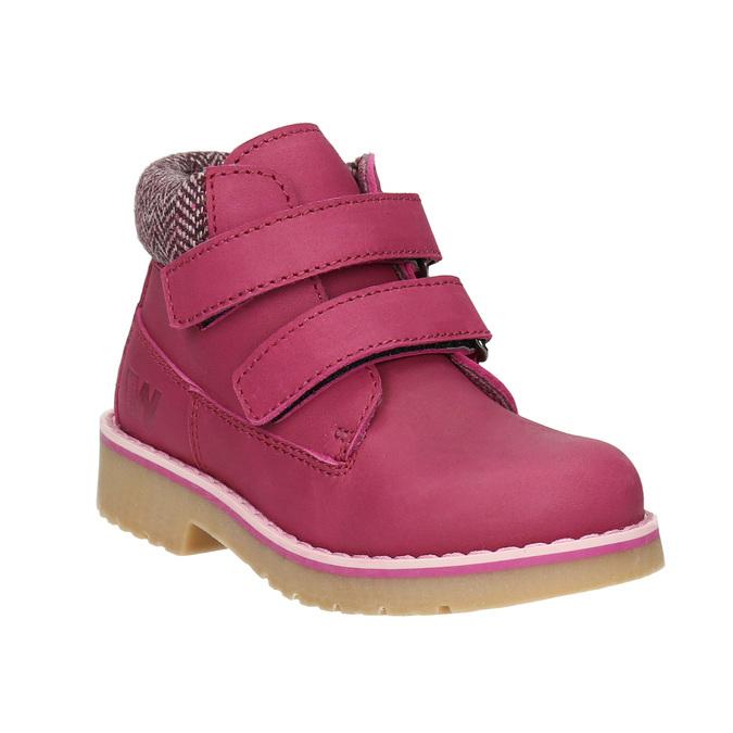 Różowe zimowe obuwie dziecięce weinbrenner-junior, różowy, 226-5200 - 13