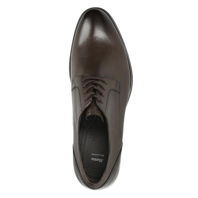 Brązowe skórzane półbuty typu angielki bata, brązowy, 824-4618 - 26