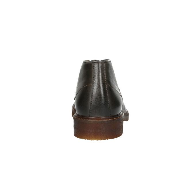 Skórzane obuwie typu chukka bata, szary, 826-3919 - 15