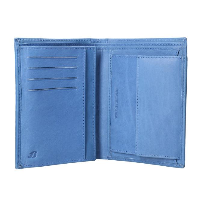 Niebieski portfel skórzany bata, niebieski, 944-9179 - 15