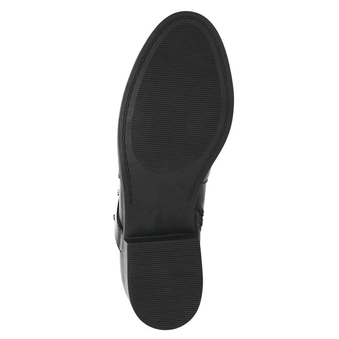 Botki damskie zćwiekami bata, czarny, 591-6620 - 19