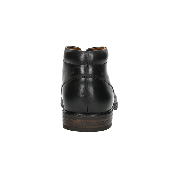Skórzane buty męskie za kostkę bata, czarny, 824-6913 - 17