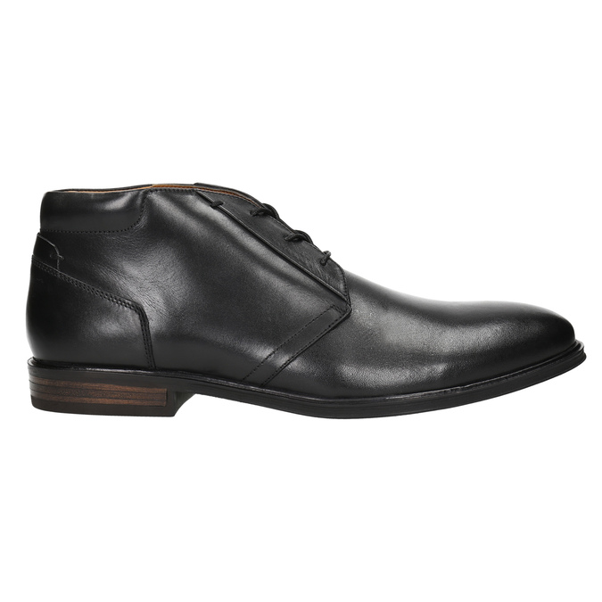Skórzane buty męskie za kostkę bata, czarny, 824-6913 - 15