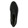 Skórzane botki ze srebrnym wykończeniem bata, czarny, 593-6603 - 26