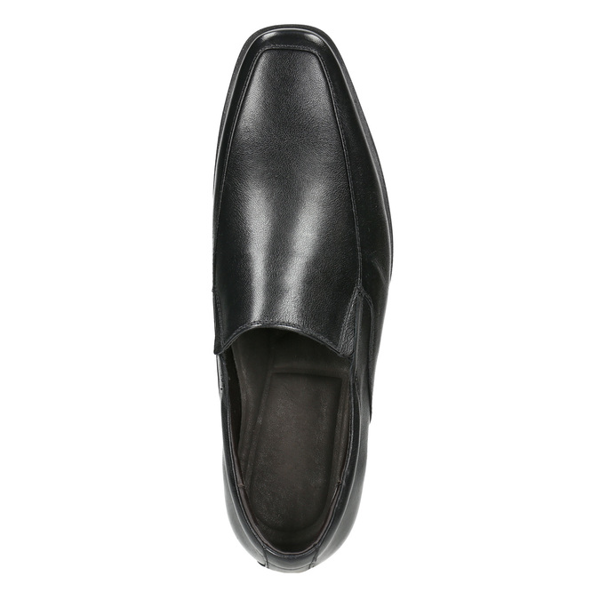 Skórzane loafersy męskie bata, czarny, 814-6623 - 26