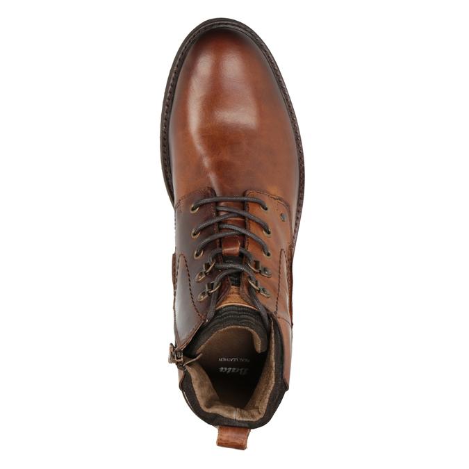 Buty ze skóry za kostkę bata, brązowy, 896-3675 - 15