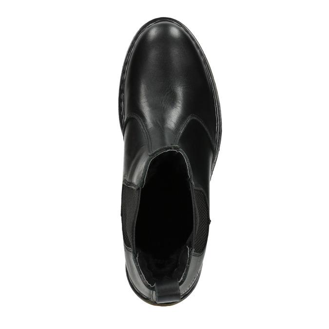 Skórzane obuwie damskie typu chelsea bata, czarny, 594-6680 - 15