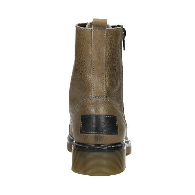 Skórzane botki damskie bata, brązowy, 596-7681 - 16