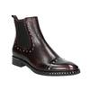 Skórzane obuwie damskie typu chelsea bata, czerwony, 596-5679 - 13