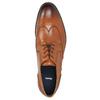 Skórzane półbuty męskie zefektem ombré bata, brązowy, 826-3914 - 26