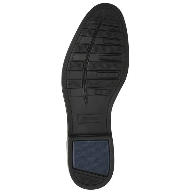 Granatowe skórzane półbuty męskie bata, niebieski, 826-9914 - 19