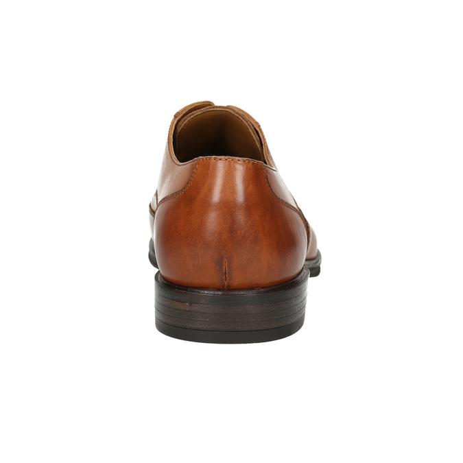 Skórzane półbuty męskie zefektem ombré bata, brązowy, 826-3914 - 17