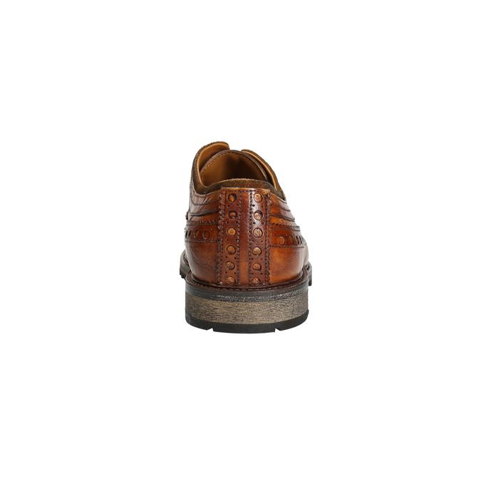 Skórzane półbuty męskie bata, brązowy, 826-3916 - 17
