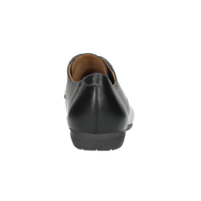Damskie skórzane półbuty bata, czarny, 526-6635 - 16