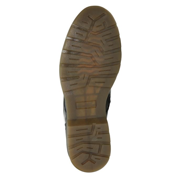 Skórzane botki damskie bata, czarny, 594-6681 - 17