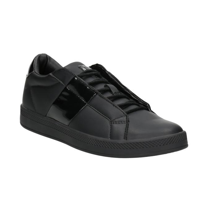Czarne trampki damskie, czarny, 501-6171 - 13