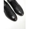 Skórzane półbuty damskie zfakturą bata, czarny, 526-6637 - 14