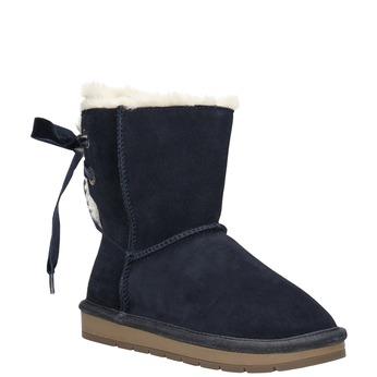 Dziecięce skórzane walonki bata, niebieski, 393-9604 - 13