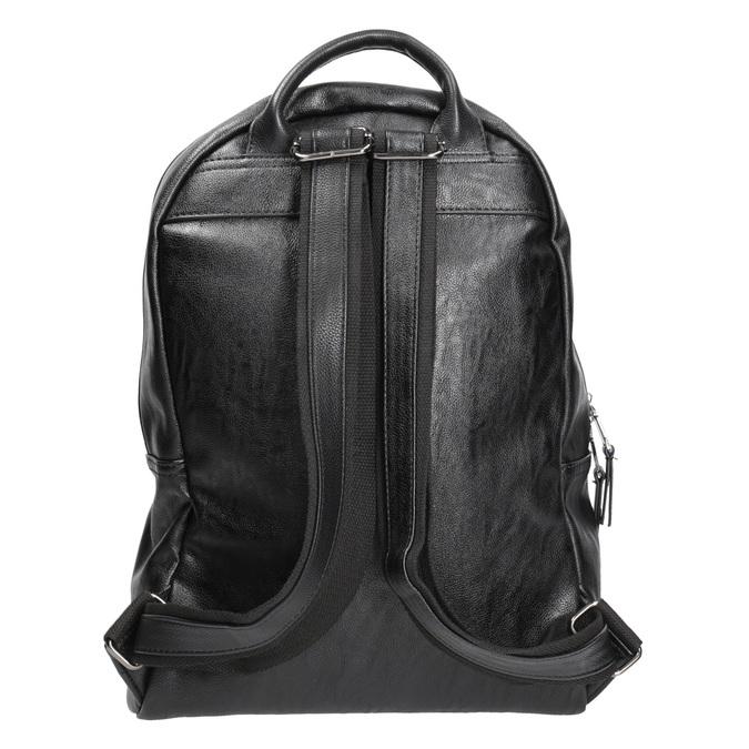 Plecak zzamkami błyskawicznymi bata, czarny, 961-6516 - 16