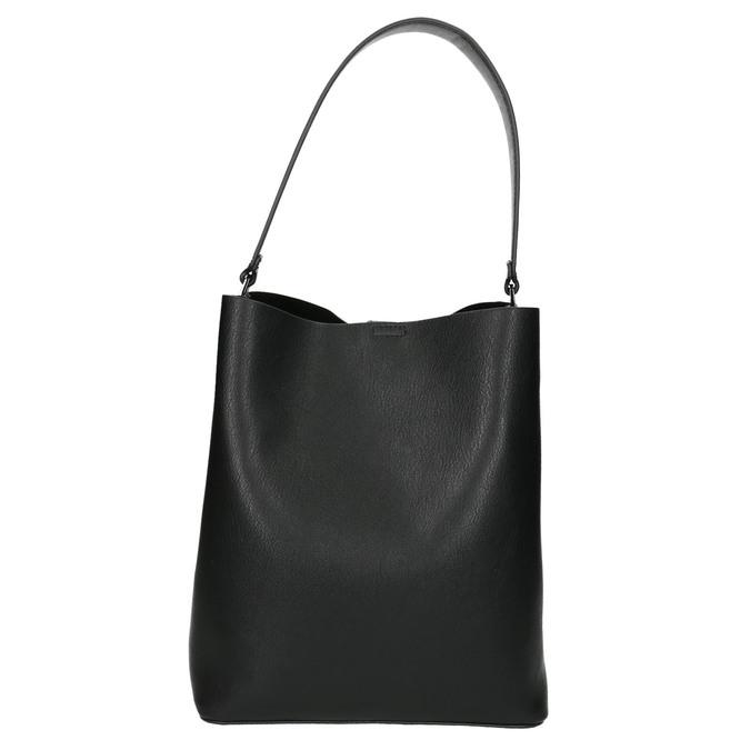 Dwukolorowa torba damska bata, czarny, 961-6173 - 17