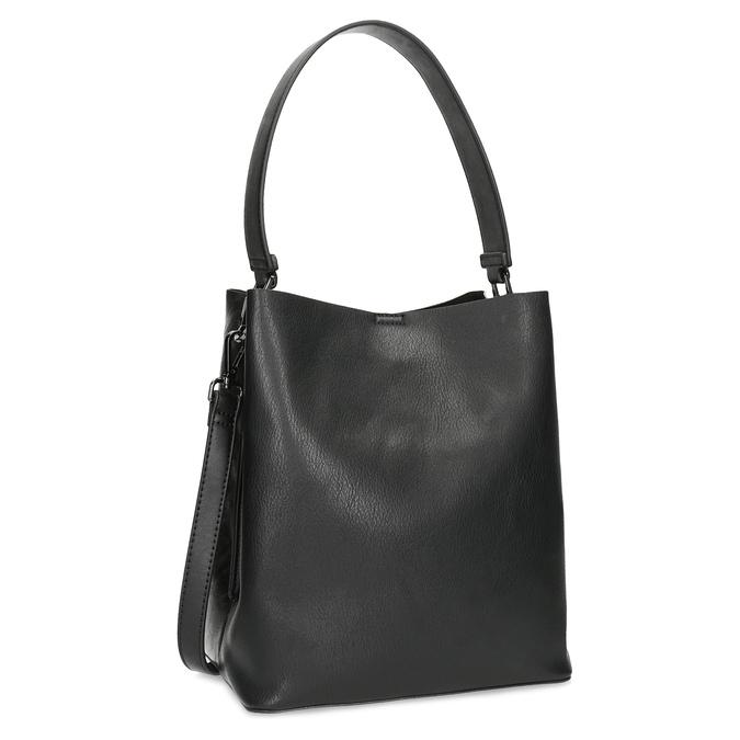 Czarna torebka zodpinanym paskiem bata, czarny, 961-2173 - 13