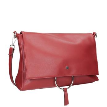 Czerwona kopertówka złańcuszkiem bata, czerwony, 961-5164 - 13