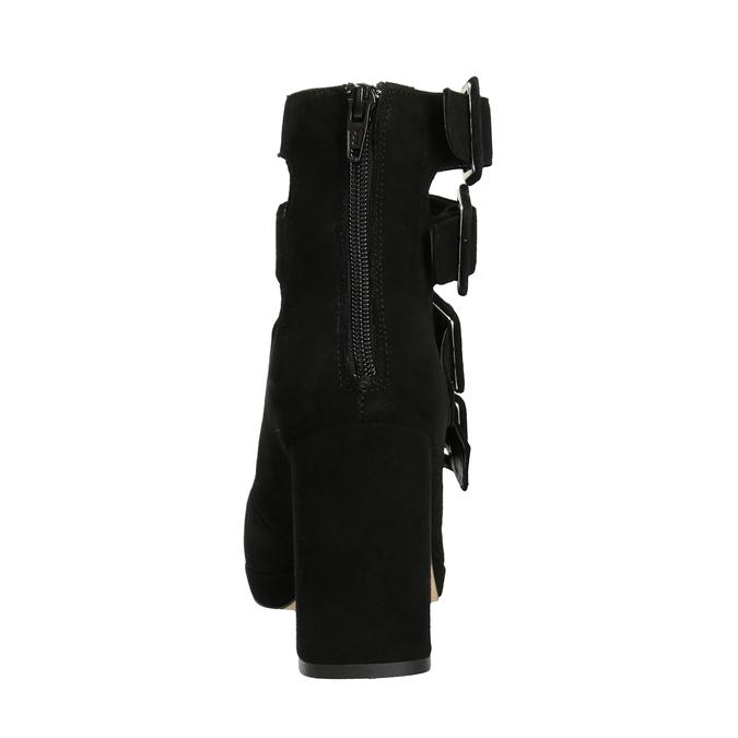 Czarne czółenka zklamrami bata, czarny, 723-6984 - 16