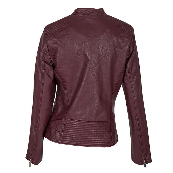 Bordowa kurtka ze skóry ekologicznej bata, czerwony, 971-5203 - 26