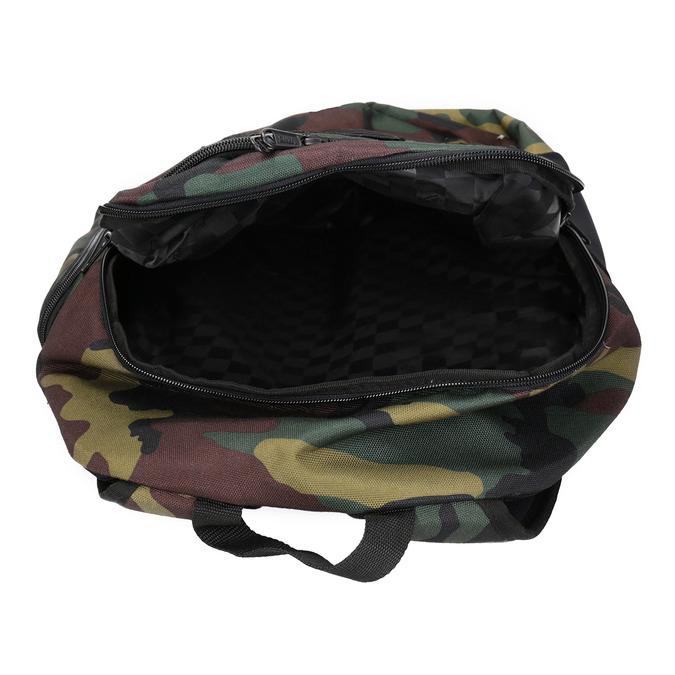 Plecak unisex wdeseń moro vans, brązowy, 969-3099 - 15